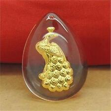 Hot Sale  24K Yellow Gold Man-made Crystal New Design Peacock  / Only Pendant