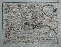 Original antique map, LONDON, 'Die Gegend um London', Von Reilly, c.1790