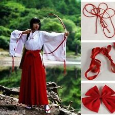 Inuyasha Kikyo Kimono Cosplay Beautiful Red Costume Set