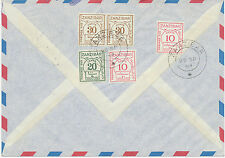 2049 ZANZIBAR 1964 POSTAGE DUE 1 Sh. on Airmail-cvr from Germany EXHIBITION-ITEM