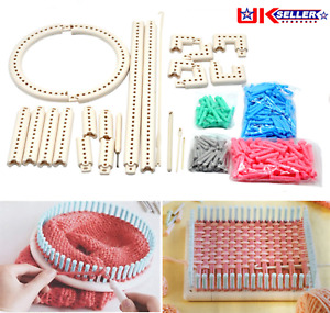 Knitting Board DIY Tool Knit Weave Loom Kit Multifunction Adjustable Craft Yarn