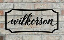 Personalized Metal Name Sign