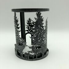 Scentsy Forest MeadowMetal Warmer Wrap Only Deer Forest Pine Trees