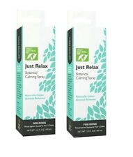 Just Relax - SET of (2) 3.4 fl oz Botanical Pet Calming Sprays for DOGS EX 2023