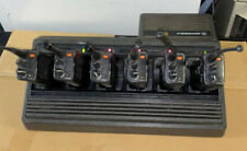 Lot of (6) Motorola HT1000 UHF 403-470 Mhz 2 Way Radios With charger