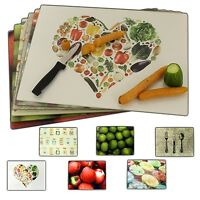 Designer Glass Chopping Cutting Boards Worktop Saver Kitchen Vegetables Fruit