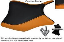 ORANGE & BLACK CUSTOM FITS HONDA CBR 125 R 11-13 FRONT SEAT COVER
