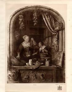 1929 Aufdruck ~ Gerard Dou ~ 1675 ~ Junger Damen Selling Rosinen ~ KING'S