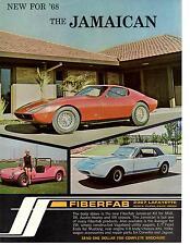 1968 FIBERFAB JAMAICAN / MUSTANG KIT CAR  ~  WONDERFUL ORIGINAL PRINT AD