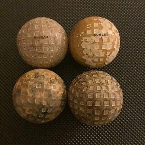 4X DUNLOP MESH GOLF BALLS,CIRCA 1920's.