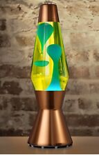 Mathmos Heritage Astro Lava Lamp Copper Finish with Blue Wax In Yellow Liquid