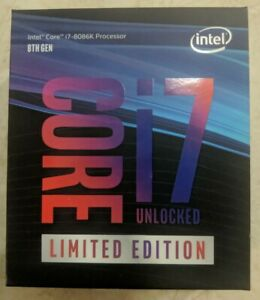 New in sealed box Intel Core i7-8086K 5GHz 6c/12t Limited Edition CPU Processor