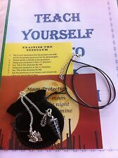 Snowflake Obsidian Pendulum Gemstone Necklace + Teach Yourself Booklet+Extras