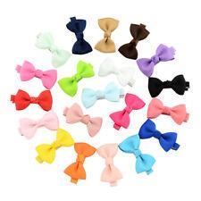 20pc/set Small Mini Baby Girl Kids Ribbon Hair Alligator Bow Clips School Slides