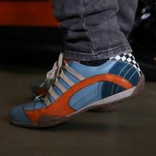 Grandprix Originals Racing Leather Sneakers Ice Blue
