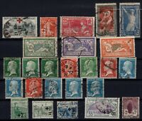B137283/ FRANCE – YEARS 1914 - 1926 USED SEMI MODERN LOT – CV 170 $