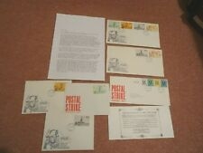 STAMPS GB 1971 LOT POST OFFICE STRIKE FDC WITH STAMPS FROM NORWICH + PROVENANCE