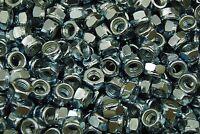 (1500) Metric M4-0.7 Nylock Hex Nut 4mm Zinc Plated Locking Nyloc