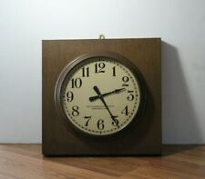 Vintage The Standard Electric Time Co Wood Cased Metal Gallery Wall Clock
