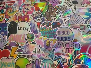 Psychedelic Holographic Trip Stickers 20/40/80 Scrapbooking Drugs Cardmaking