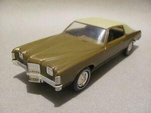MPC 1972 Pontiac Grand Prix 1/25 Scale Promo Car - Brasilia Gold/Tan, Near Mint!