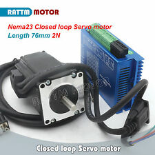 NEW Nema23 76mm 2N.m Closed-Loop Servo Motor 3A & HSS57 Hybrid Driver CNC Kit