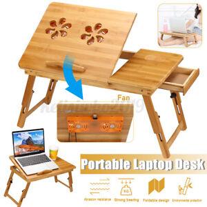 Multifunktional Laptoptisch Laptopständer Notebooktisch Betttisch mit Fan