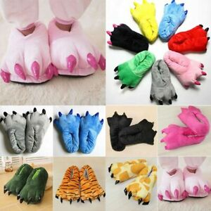 Animal Paw Soft Plush Claws Slipper for Adult Teens Halloween Bedroom Slipper
