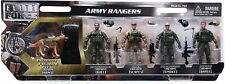 Action Figures 1:18 Scale Elite Force Army Rangers 5 Pack Set Toy Ranger K9