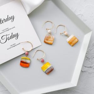 2 Designs of Ladies Hook Earrings Artistic Lovely Elegant Gift