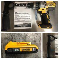 "DEWALT DCD996B Max XR 20V Li-Ion 1/2"" Cordless Hammer Drill + 2.0ah Battery"