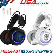 US Pro Gamer Mic Gaming Headset Stereo Bass Surround Headphone For Xbox One/PC