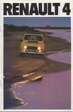 Renault 4 Estate TL GTL 1979-80 Original Dutch Sales Brochure