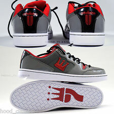 DADA Supreme Low Cut Men Kicks bball Trainer Shoes Red Crown Logo Shiny Sneakers