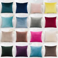 Velvet Cushion Cover Pure Color Square Home Sofa Decor Pillow Cushion Cover Case