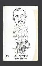 DAILY HERALD - CRICKETERS - #23 G GIFFEN, PAST MASTERS