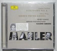 CLAUDIO ABBADO GUSTAV MAHLER SYMPHONY No. 4  CD RENEE FLEMING ALBAN BERG NUOVO