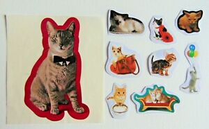 1 Vintage & new Cat sticker lot !!