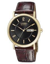 CITIZEN Eco Drive Herrenuhr BM8243-05EE Leder braun Elegant Herren Uhr neu