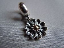 Genuine PANDORA Silver & 14ct Gold Gerbera Flower Pendant Charm Item No. 79121