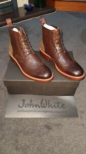 John White Midland Leather Boots Tan Uk 7 Eu 41