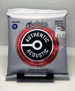 Martin & Co Authentic Acoustic Strings MA550T Phosphor Bronze Treated Medium 13