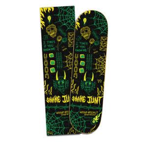 "SHAKE JUNT - PEDRO DELFINO PRO GRIP TAPE - GREEN / BLACK - SKATE NEW 9"" INCH"