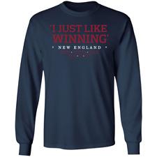 Men's I Just Like Winning Championships New England Patriots Navy T-shirt M-3XL