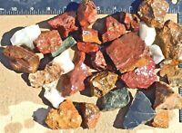 This 2-3Lbs Lot Mix Float Rocks Stones Crafts Natural Red Jasper Rhyolite Quartz
