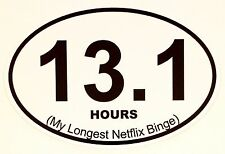 13.1 Netflix Marathon Sticker Oval Vinyl Window Decal