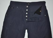 "Hugo Boss Rock Faded Navy Lightweight Jeans Pants Button Fly Actual: W31"" L31"""