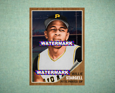 Willie Stargell Pittsburgh Pirates 1962 Style Custom Art Card