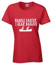 Paleta Faster Camiseta Mujer Canoa Deliverance NOVEDAD Montañés Película NUEVO
