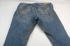 "Hollister Women's Junior 5/27 (34W,27L,10""Rise) Tapered Denim Jeans -STAIN #T173"